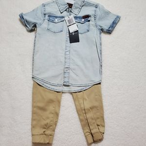 7 for all man kind boy outfit 3t